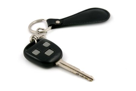 unmarked: Car Key with unmarked buttons and key chain