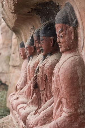deities: Chinese Deities at Thousand Buddha Temple, China