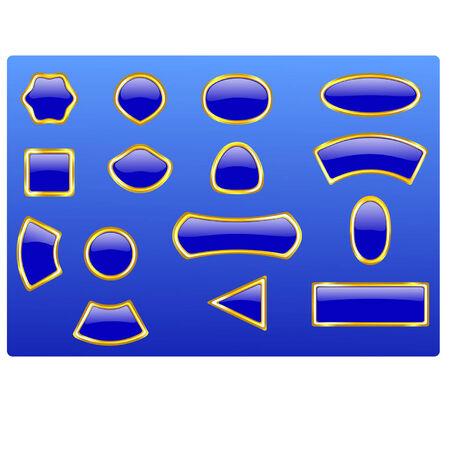 blue button Illustration