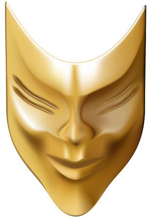 -máscara de bronce