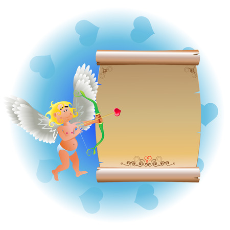 angel and package Vector