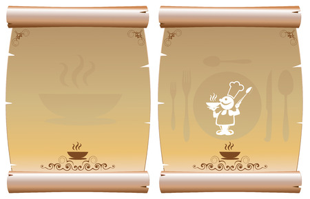 lifestyle dining: restaurant menu Illustration