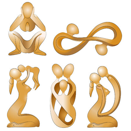 figurines: family relationship Illustration