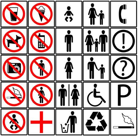 toilet icons Vektorové ilustrace