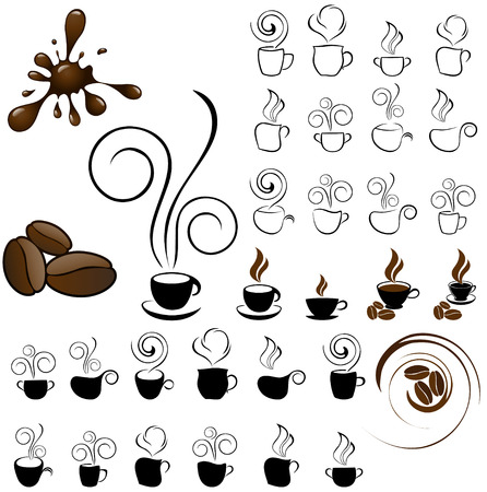 cappuccino: coffee icons