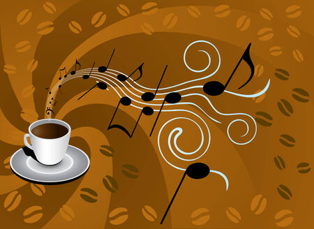 coffee background Stock Vector - 4484811
