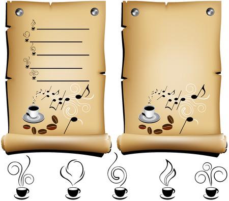 coffee restaurant menu Illustration