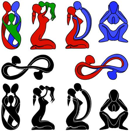 symbols family Vector