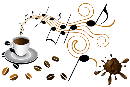 cup coffee Ilustracja