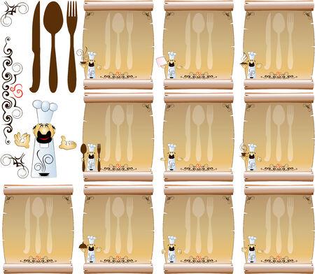cook restaurant menu 2 Stock Vector - 4628563