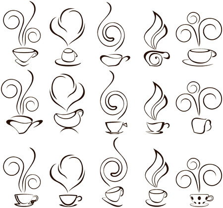 aromas: coofee cup icons Illustration