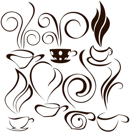 coofee cup icons 2 Vector