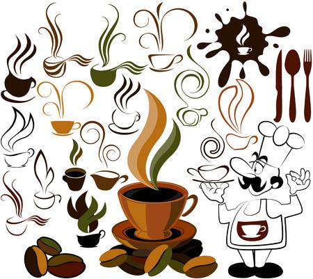 café icono de menú