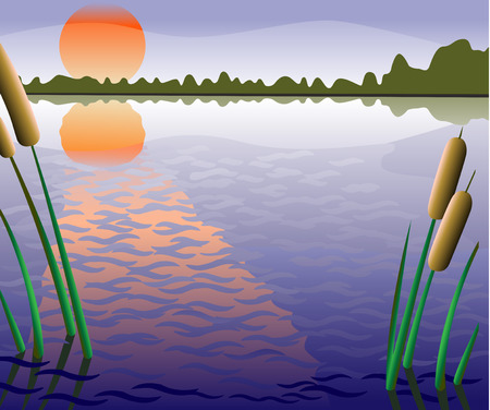 reflection of life: fishery zone Illustration