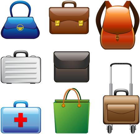 mochila viaje: Bolsas de recogida Vectores