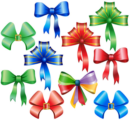 collection of bow Stock Vector - 5338344
