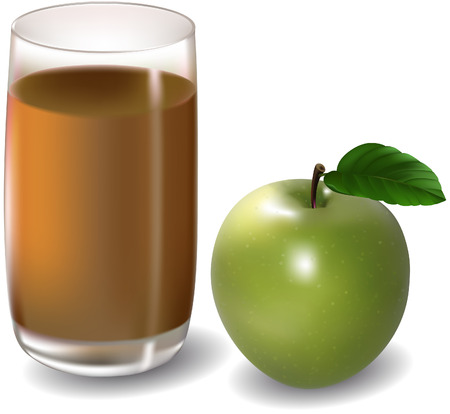 apple juice Illustration