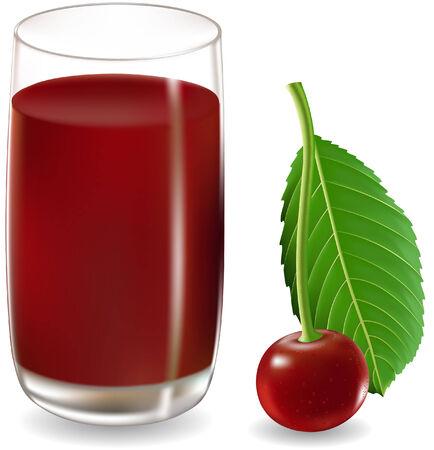 cherry juice Illustration