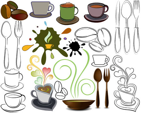 logos of the cups and spoon