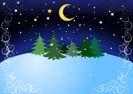 winter night Stock Vector - 5743819