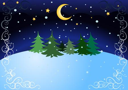peaceful scene: winter night
