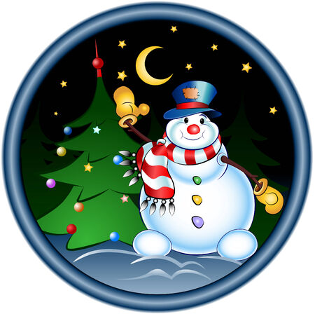 happy snowman Stock Vector - 5743820
