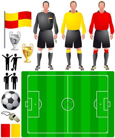 arbitros: conjunto de iconos para el f�tbol europeo Vectores