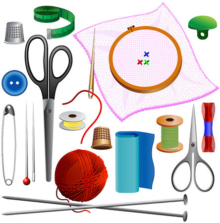 sewing kit Stock Vector - 6487336