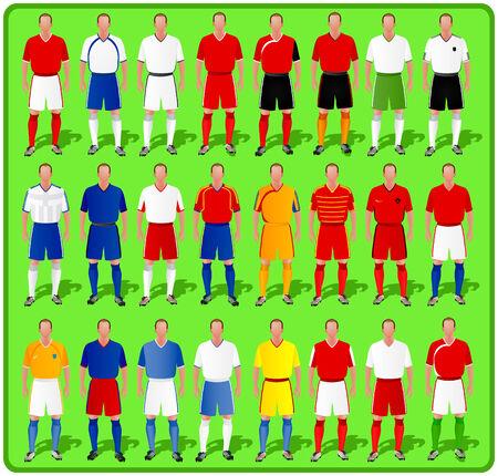 national teams of European football-1 Stock Vector - 6740090