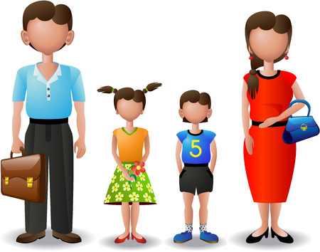 my family (icons) Stock Vector - 6947071