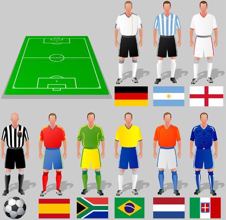 world player:  Copa Mundial de f�tbol, grupo A Vectores