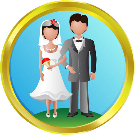 heterosexual couple: newlyweds