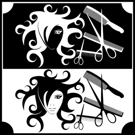 logo for registration of hairdressing Stock Vector - 7322684