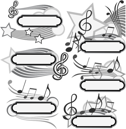 background for the design of musical labels Stock Vector - 7423173