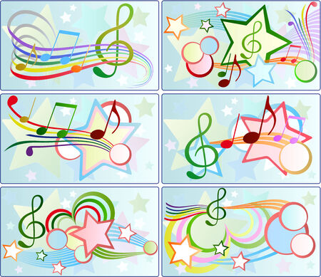 set of musical backgrounds Vector