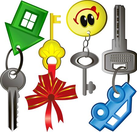 the key to the new house, the keys to a new car
