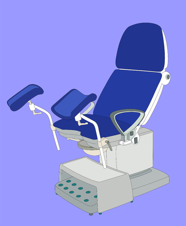 Gynecological chair medical examination