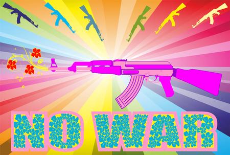 AK-47 pop Art No war