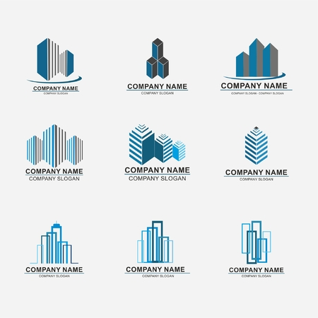 Set of real estate company  design abstract construction  design