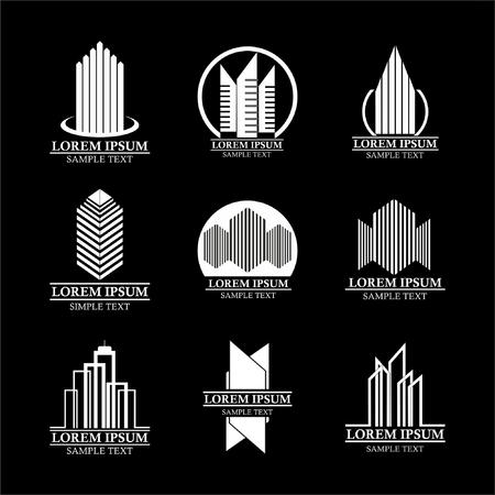 Set of real estate logo designs, Building logo design