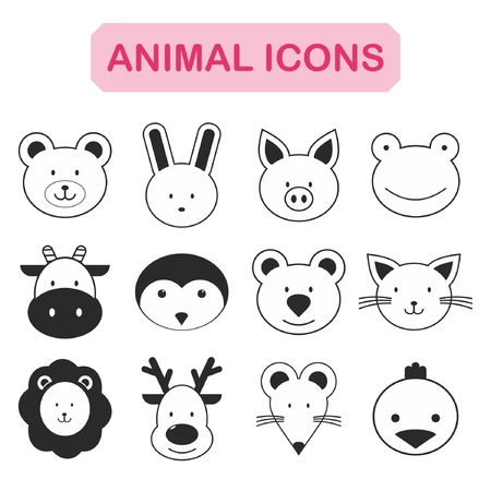 Set of animal icon