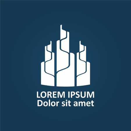 Real estate company logo design Vectores