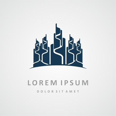 logo: Building logo design. Real estate company logo design, abstract construction logo design. Building logo design