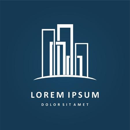 Building logo design. Real estate company logo design, abstract construction logo design. Building logo design