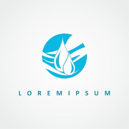 Water logo design. Abstract vector  drop logo. Abstract symbol icon. Abstract circle logotype