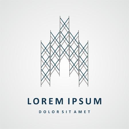 Aufbauend Logo-Design. Immobilien-Gesellschaft Logo-Design, abstrakte Konstruktion Logo-Design. Gebäude Logo-Design Standard-Bild - 52898303