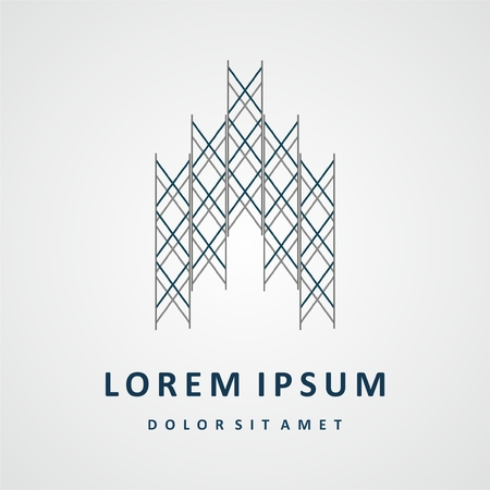 Construire conception de logo. Société immobilière conception de logo, conception abstraite construction de logo. Bâtiment de conception de logo Banque d'images - 52898303