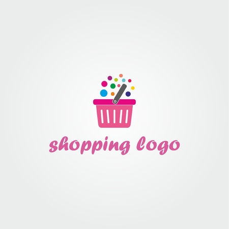 Shopping logo. Shopping cart logo. Online shop logo Illustration