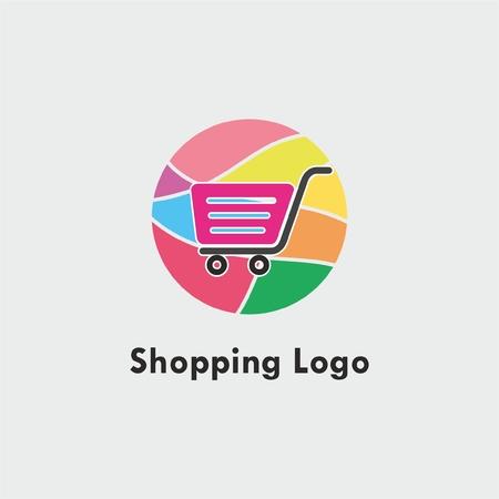Abstract shopping logo. Shopping cart logo. Online shop logo