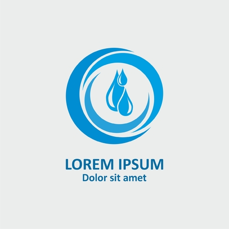 Water logo design. Abstract vector logo. Abstract symbol icon. Abstract circle logotype